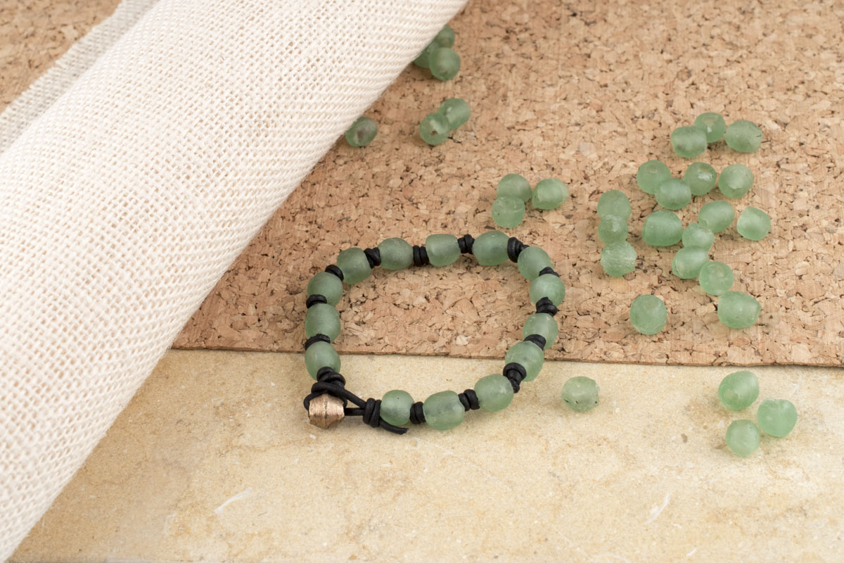 How to Make a Knotted Leather Bracelet